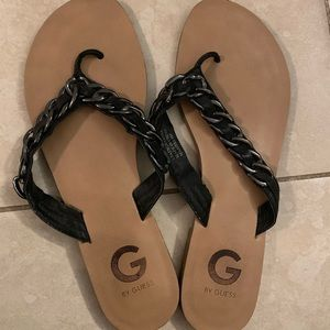 G by Guess thong sandals.